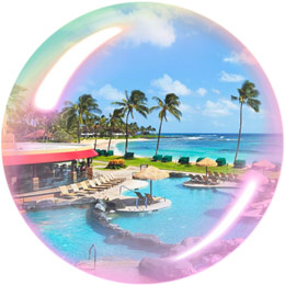 Resort bubble Hawaii